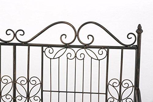 CLP Eisen-Gartenbank ADELE im Landhausstil, aus lackiertem Metall, 107 x 54 cm Bronze - 5