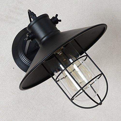 GNOW Wand-Lampe-Industrie Retro Entwurfs-Treppenhaus-Gang-Wand-Lampen-Kreative Pers5Onlichkeit-Eisen-Nachttischlampe Einfache Amerikanische Vogel-Käfig-Wand-Lampe, Stumme Schwarze Gürtel-Glühlampe (Vogel-gürtel)