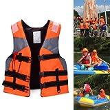 Shsyue®adulto giubbotto salvagente sport acquatici Life Jacket Vest in poliestere per universale nuoto canottaggio kayak arancione - Shsyue® - amazon.it