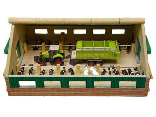 Van manen 610492 - fattoria/stalla in legno, 24 x 30 cm, scala 1:87 [importato da germania]