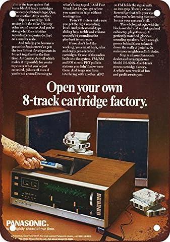 1971Panasonic pour faire vos propres Bandes 8-Track Look Vintage Reproduction Plaque en métal 20,3x 30,5cm
