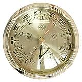 Selva Einbau Baro- und Thermometer in schickem Kompassdesign Ø 108mm