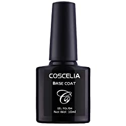 Coscelia Base Coat y Top Coat Semipermanente Esmalte Semipermanente de U as Gel UV LED Color 2pcs Kit de Manicura Soak off