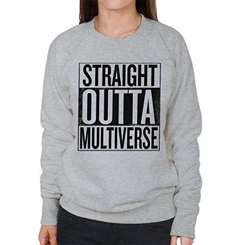 Straight Outta Multiverse Rick And Morty Women's Sweatshirt Heather Grey