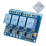 Boladge 5V 4-Kanäle Steuerschalter Relais Modul Board Relais Treiber Board für Arduino Raspberry Pi 51 AVR ARM PIC