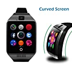 Curved Screen Smartwatch CHEREEKI Smart Watch Bluetooth With Soft Strap Supports SIM TF Card Remote Camera Pedometer Message Push SMS WhatsApp Facebook Twitter For Android Smartphones Samsung HTC Sony