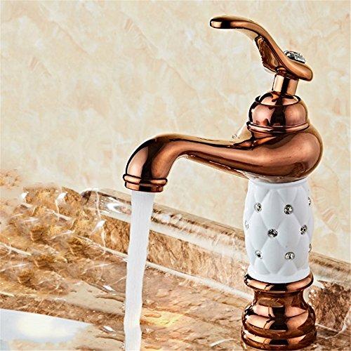 ETERNAL QUALITY Bad Waschbecken Wasserhahn Küche Waschbecken Wasserhahn Kupfer Badewanne Heiß Und Kalt Vintage Einlochkeramik Waschtischmischer BEG736 (Vintage-kupfer-badewanne)