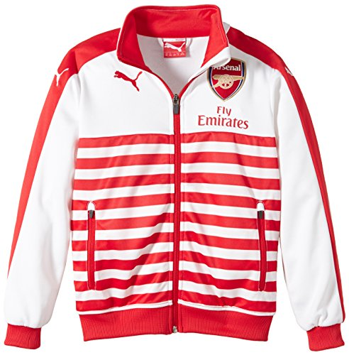 Puma Kinder Jacke AFC T7 Anthem Jacket with Sponsor, High Risk Red-White, 140, 746936 01 (Puma Kids Form)