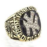 ZNKVJ Titan Stahl Herren Das Jahr 1977 von Yankees Meisterschaft Ringe,Größe 72 (22.9)