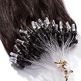 (20'/50cm,50g) Extension a Froid Cheveux Naturel Loops 02#Châtain Foncé [0.5g * 100 Mèches] Naturel Comme Vos Propres Cheveux [ 02#Châtain Foncé ]
