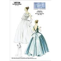 Vogue Patterns V8729 - Patrones de costura para vestidos y enaguas de mujer (talla EE: 44-50)