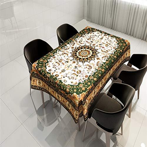 QWEASDZX Mantel Mándalas Gegenstand Tischdecken Nationale Art Druck Digital Beweis Öl und Wasser beständig Tischdecken 150X150CM Tischtuch rechteckiger Tisch rund