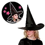 Jia Meng 1Pcs Erwachsene Frauen Black Witch Hut für Halloween Kostüm Zubehör Halloween Halloween Kostüm Halloween Dekoration (Freie Größe, Zufällig)