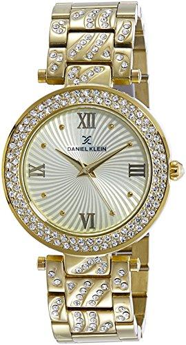 Daniel Klein Analog Gold Dial Women's Watch-DK10964-1 image