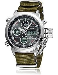 New Ohsen Brand Fashion Quartz Men Boys Waterproof Business Wristwatch Alarm Date Day Time Display Multifunctional...