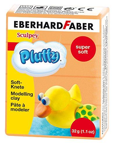 Eberhard Faber 571415-Super Soft plastilina pluffy, 32g, Naranja