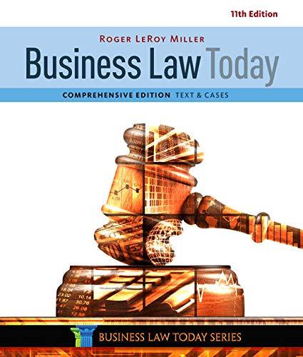 Business Law Today, Comprehensive (Mindtap Course List) por Roger Leroy Miller