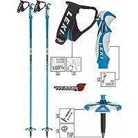 Leki Bird Bastones de esquí para Adultos, Color Negro, Unisex, Skistock Blue Bird Carbon, Base Color: Blue/Design: Dark Blue-White, 130 cm