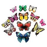 Kofun DIY Removable Wandaufkleber, 3D Schmetterling Aufkleber Art Design Abziehbild Dekor DIY Wandaufkleber bunt