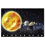 GREAT ART Fototapete Planeten Sonnensystem - 336 x 238 cm Galaxie Universum Weltraum Weltall Bildtapete