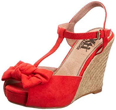 Xti Tentations Women's 29249 Coral Wedges Heels XTI20306452208 8 UK