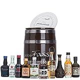 probierFass Rum Probierset | 10 beliebte Rum Klassiker (10 x 0.05 l) in einem originellen Fass mit Geschenkverpackung | Rum Geschenk | Rum Set