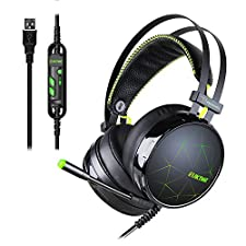 EUKYMR 7.1 Channel Virtual USB Surround Stereo Wired PC Gaming Headset Noise Reduction Game Earphone