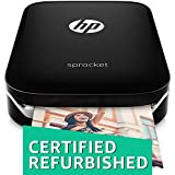 (CERTIFIED REFURBISHED) HP Sprocket Portable Photo Printer (Black)