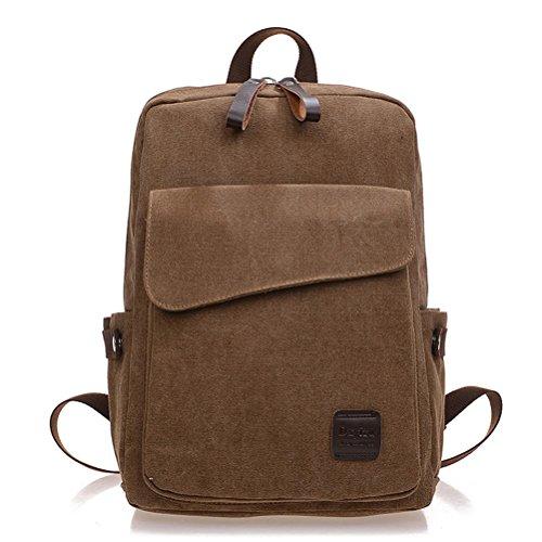 Honeymall-Épaule de toile sac à dos marée cartable sac d'ordinateur de loisirs