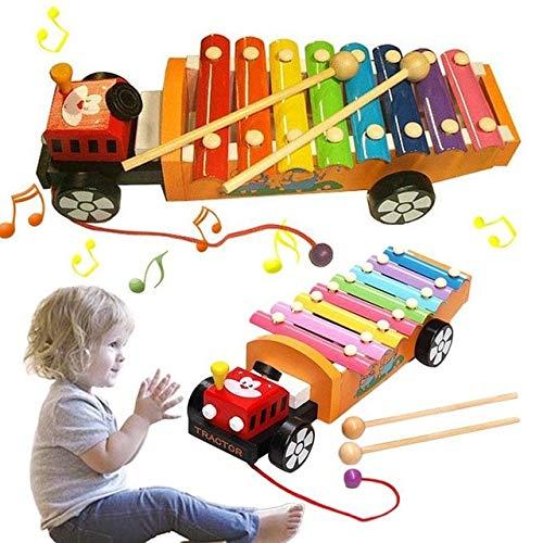 XuBa Holz Musikalische Spielzeug F\u00fcr Kinder Lehrmittel Kind Fr\u00fche P\u00e4dagogische Weisheit Entwicklung Musik Instrument Baby Spielzeug Geschenk White
