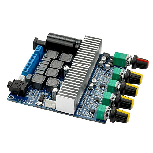 24v Verstärker (uniquegoods TPA3116 DC 12-24V Bluetooth 4.2 Digital Audio Verstärker Board High-Power 2.1 Super Bass Lautsprecher)