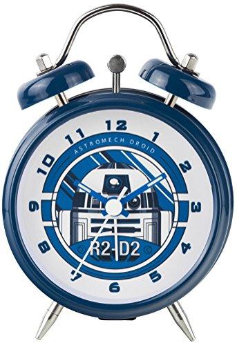 Star Wars R2-D2 Mini Twin Bell Horloge, Bleu