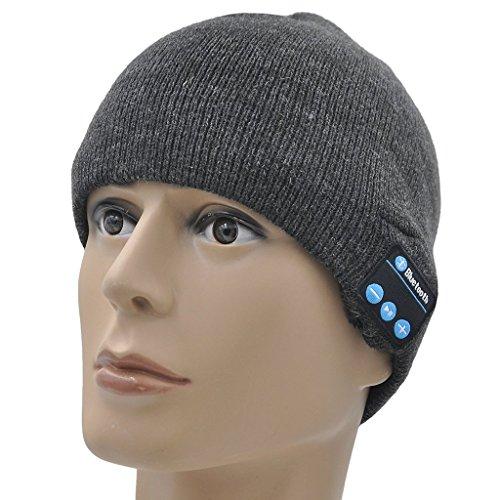 Preisvergleich Produktbild ONX 3 Ulefone Gemini Pro (Dunkelgrau) Unisex Größe Winter Bluetooth Beanie-mütze mit integriertem Wireless Stereo Lautsprecher Kopfhörer