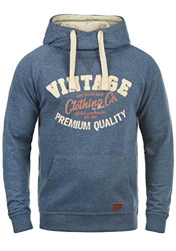BLEND Alejandro Herren Kapuzenpullover Hoodie Sweatshirt aus hochwertiger Baumwollmischung, Größe:M, Farbe:Ensign Blue (70260)