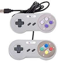 SNES PC Gamepad,SNES USB Retro Wired Controller Connector,[iNNEXT] [2 Pack] SNES USB SFC Supper Classic Game Controller Joypad Gamestick Joystick For Windows PC Mac Notebook