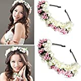 Tradico® Flower Boho Crown Festival Headband Wedding Garland Hairband Accessories