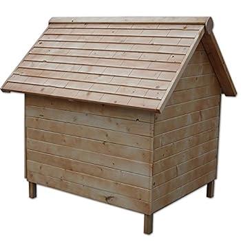 Dibea dh10014Maison Niche pour chien en bois résistant aux intempéries Marron