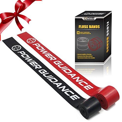 Floss Bands (2er Packung) Kompressionsbänder-Mobility&Recovery Bands-für die Verbesserung der Bewegung, Muskelwachstum, Steigerung der Durchblutung und Verringerung der Schmerzen-Lebenslange Garantie