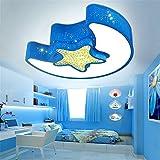 XUE dormitorio chicos creativos luna techo de la habitación de los niños y las estrellas y la luz y las niñas románticas lámparas de salas dirigidos, 540 * 430 * 125mm
