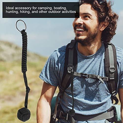 Imagen de llavero paracord supervivencia,paracord cuerda de paracaidas nudo llavero autoprotección paracord pulsera lanyard emergencia herramienta de supervivencia llavero de tejido con bola de acero alternativa