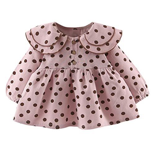 Kostüm Kleinkind Leoparden Schnee Mädchen - Obestseller Kinderkleidung, Kindermode Baby Mädchen Prinzessin Kleid Langarm Polka Dot Kleid mit Bowknot (6M-24M)