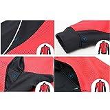 iCreat Herren Jacke Air Jacket Winddichte Lauf- Fahrradjacke MTB Mountainbike Jacket Visible reflektierend, Fleece Warm Jacket für Herbst, Schwarz Gr.XL Vergleich
