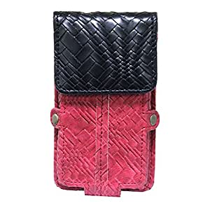 Jo Jo A6 Bali Series Leather Pouch Holster Case For Panasonic P31 Red Black