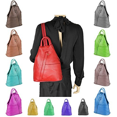 OBC Made in Italy Cuir Véritable Pour Femme Sac à dos Mini sac à dos Sac à dos cuir Sac En Bandoulière Sac en cuir sac à dos Sac à main Cuir nappa