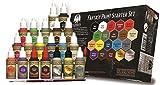 Grinning Gargoyle FPS001 - Fantasie Farben Starter Set - Acrylfarben für Miniaturen - 20x Sortierte 18ml Farben - Enthält einen Pinsel - Warpaints - Army Painter