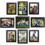 Trends On Wall Memory Wall Photo Frame Set Classic Set Of 9 Individual Photo Frames 1 10 Inch X 12 Inch Photo Frame::4 8 Inch X 12 Inch Photo Frames::4 8 Inch X 10 Inch Photo Frames