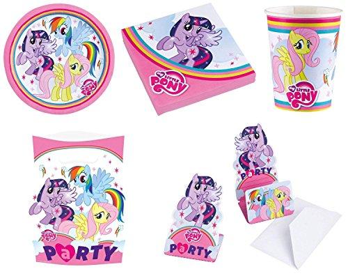 Teilen - LITTLE PONY RAINBOW - ( Teller, Becher, Servietten, Einladungskarten, Mitgebseltüten ) + Parkscheibe (Rainbow Teller Und Servietten)