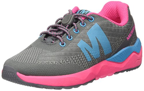 Merrell Mi Versent, Baskets Basses Fille Multicolore (Grey/Pink/Turquoise)