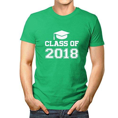 Shockproof Abi Shirt 2018 Class of - Herren T-Shirt, Größe M, Grün