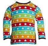 JNY Colourful Kids - Jungen Mädchen Baby Shirt Langarm STRIPED STARS mit Sterne in Streifen SS1155-20 (80, Multi)